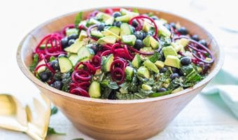 Kale Salad with Blueberries and Quinoa