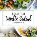 Thai Noodle Salad / This cool summer salad is bursting with Thai flavors - and Asian Salad Recipe you don't want to miss!