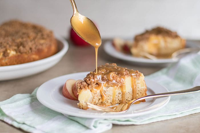 Caramel Apple Coffee Cake (Gluten Free)