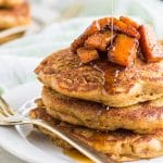 Butternut Pancakes / These gluten free pancakes are a great vegetable breakfast. Fall pancakes healthy pancakes