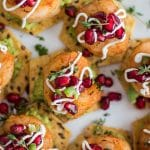 Mini Shrimp Tostadas with Pomegranate Salsa