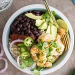 Healthy Cilantro Lime Shrimp Burrito Bowls