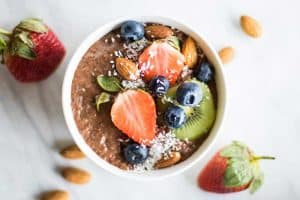 Chocolate Chia Pudding Breakfast Bowls