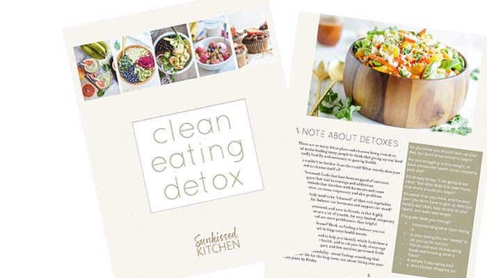An image showing some inside pages of The Clean Eating Detox.