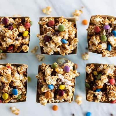 Monster Cookie Caramel Corn – Nut Free!