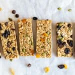6 no bake granola bars in a row.