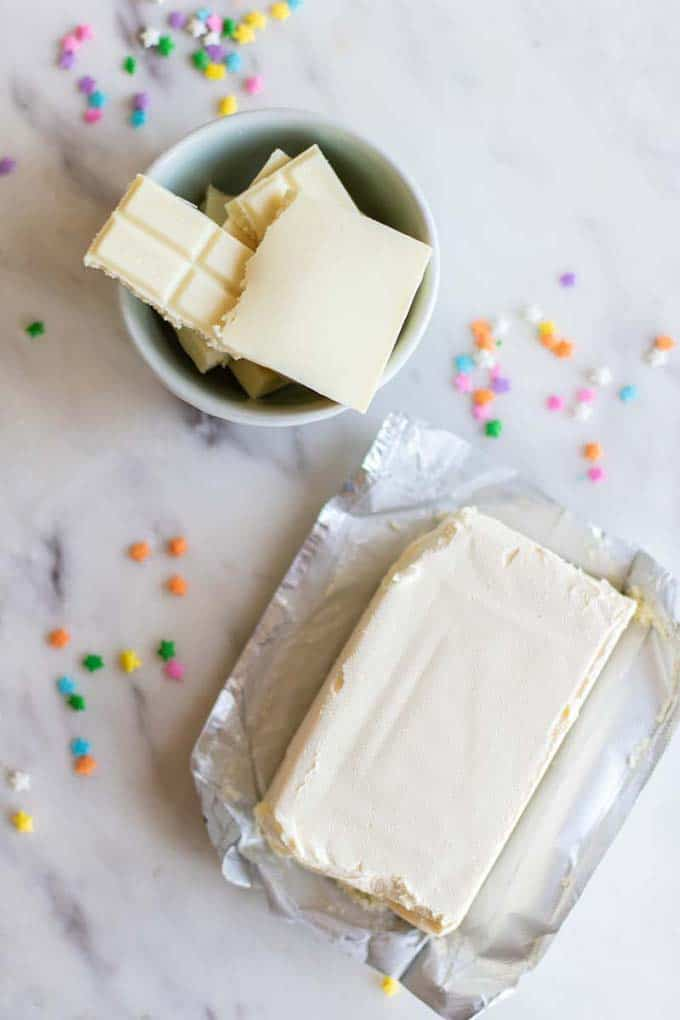 Two ingredients for this simple healthy frosting recipe.