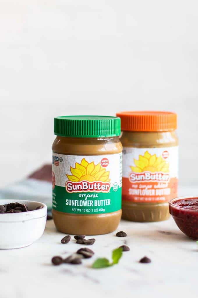 Two jars of SunButter.