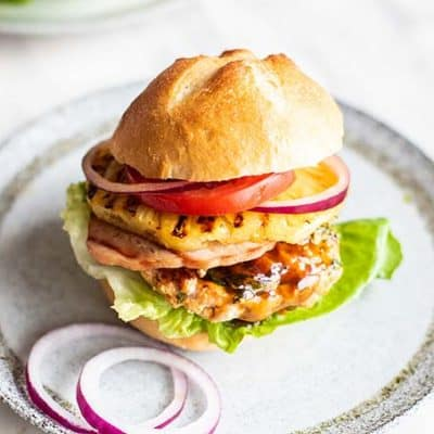 Hawaiian Teriyaki Chicken Burgers