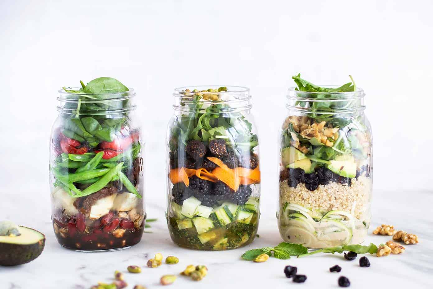 3 Mason Jar Salad Recipes Sunkissed Kitchen