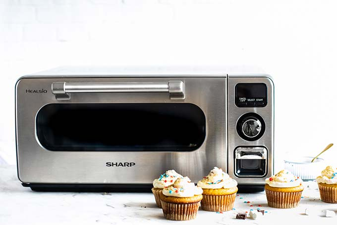 A Sharp Superheated Steam Countertop Oven.