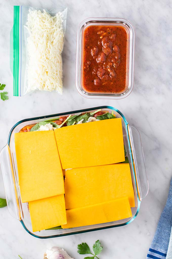 How to freeze a butternut squash lasagna.