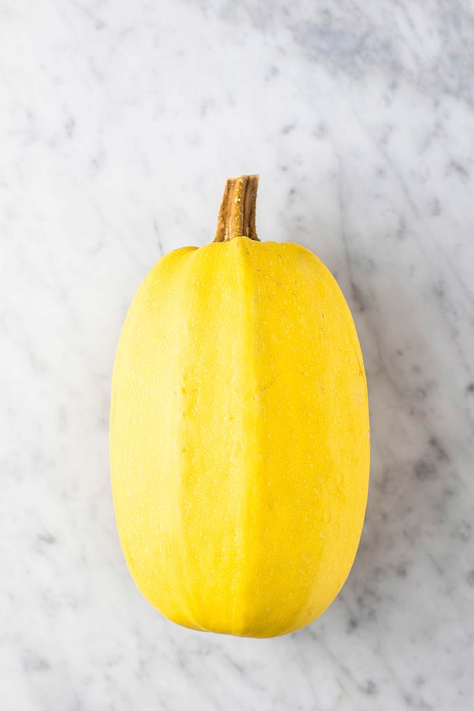 A whole spaghetti squash.