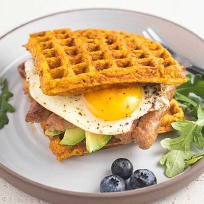 Sweet Potato Waffle Breakfast Sandwich