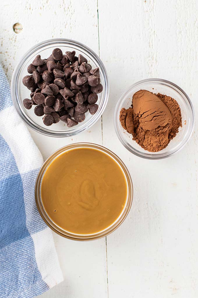 The ingredients for SunButter Fudge.