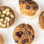 A close up look at baked muffins.