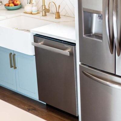 A photo of a dishwasher in Michelle's kitchen.