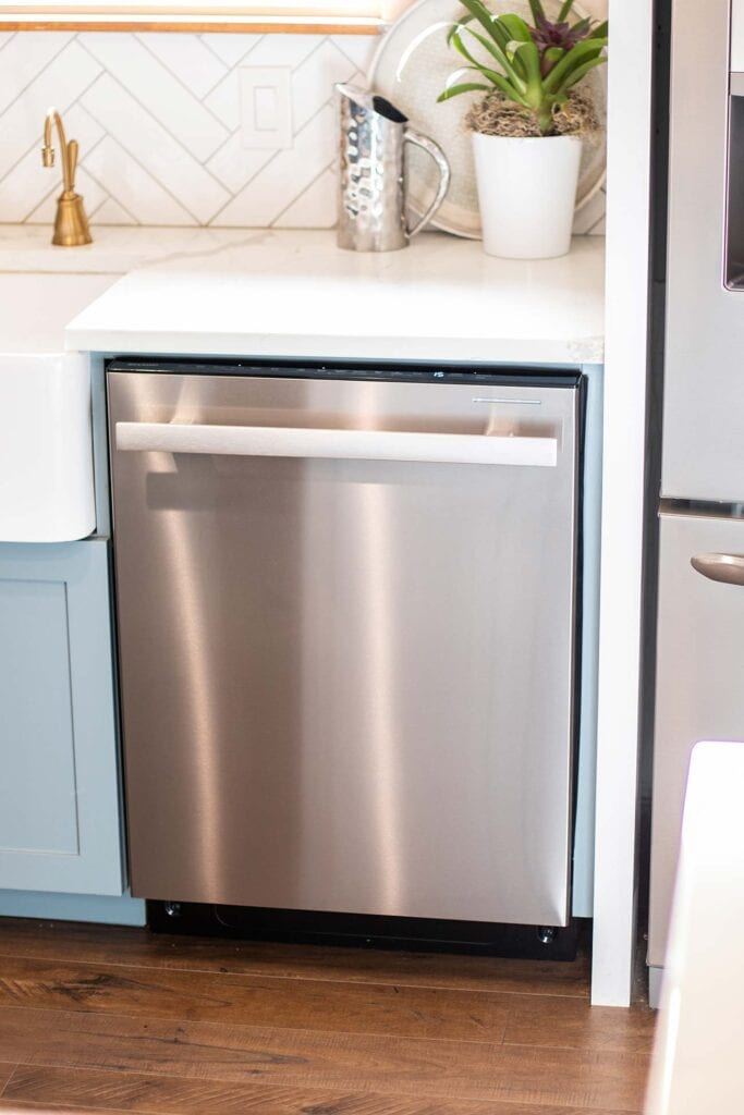 The Sharp Slide-in Stainless Steel Dishwasher.