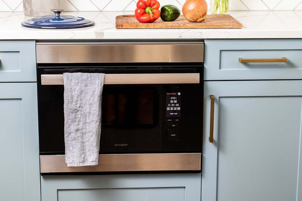 The Sharp SuperSteam Built-in Wall Oven.