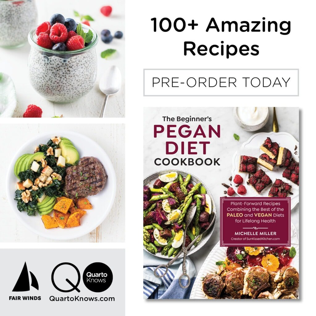 The cover of The Beginner's Pegan Diet Cookbook by Michelle Miller.