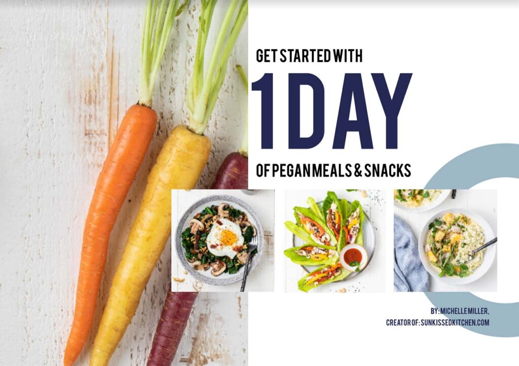 The cover of the pegan diet preorder incentive.