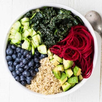 Kale Blueberry Salad with Quinoa